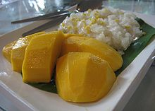 Khao niao mamuang - Mango with glutinous rice