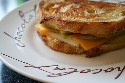 Pear and Cheese Sandwich - the best way to make your kid eat fruits