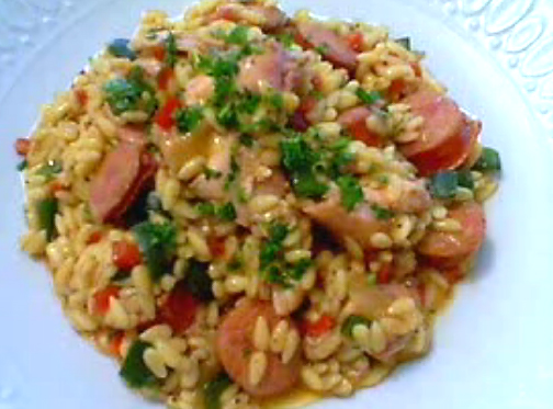 Risotto Style Orzo Pasta With Chicken And Sausage Recipe ...