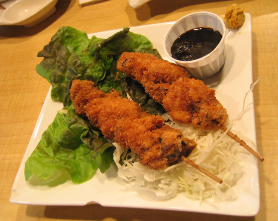 How To Eat Kushikatsu when cooked at home