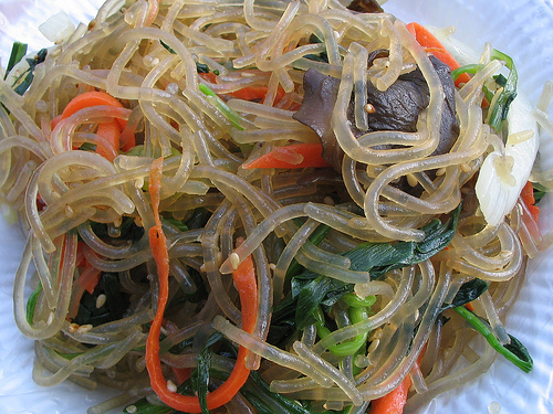 how to cook japchae noodles