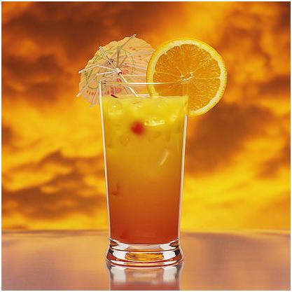 Orange Pomegranate Mocktail