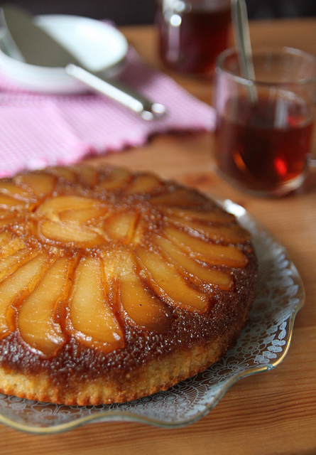 Pear Upside Down Pudding