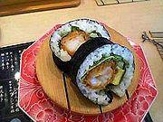 Ebifurai-Maki(エビフライ巻き). Fried-Shrimp Roll.