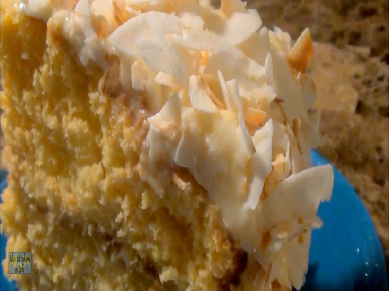 Charmed Pineapple Coconut Cloud Cake Recipe Video by The.Kitchen.Witch ...