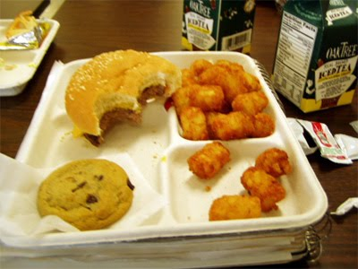 Unhealthy school lunch