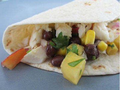 Tilapia Tacos With Peach, Corn And Black Bean Salsa Recipe Video by ...