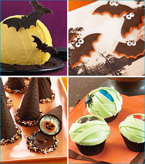 Collection of spooky Halloween treats