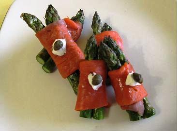 Salmon Wrap Garnish