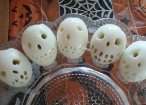 Halloween special deviled eggs
