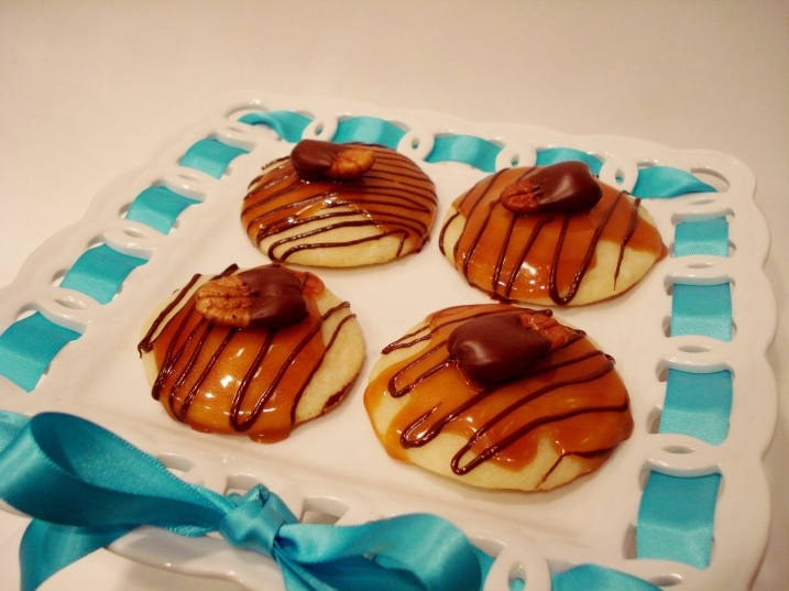 Peanut Butter Toffee Turtle Cookies