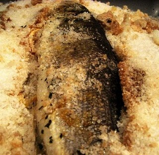 Branzino Al Sale makes a very tasty fish meal