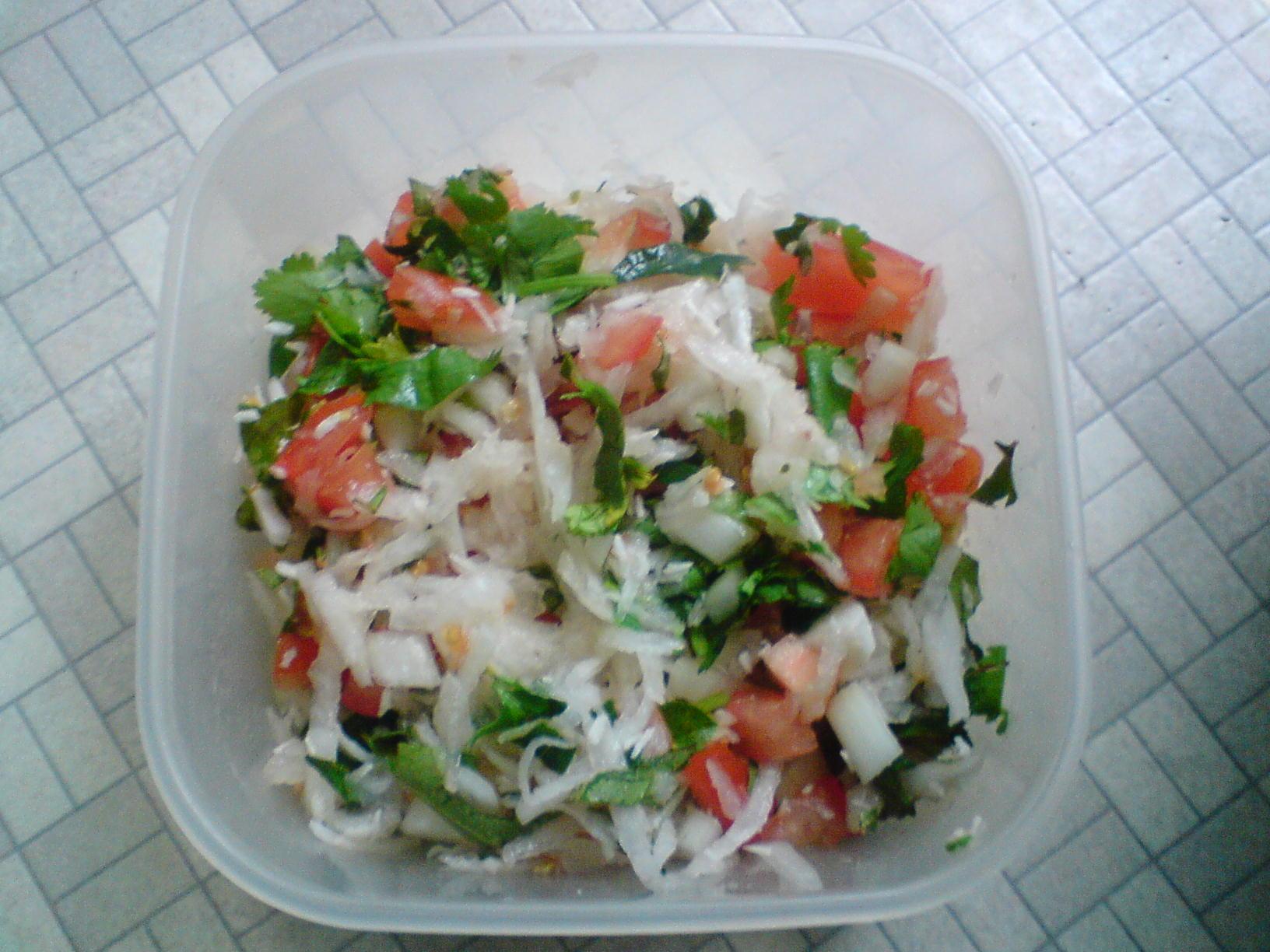 Radish And Peanut Salad Recipe — Dishmaps