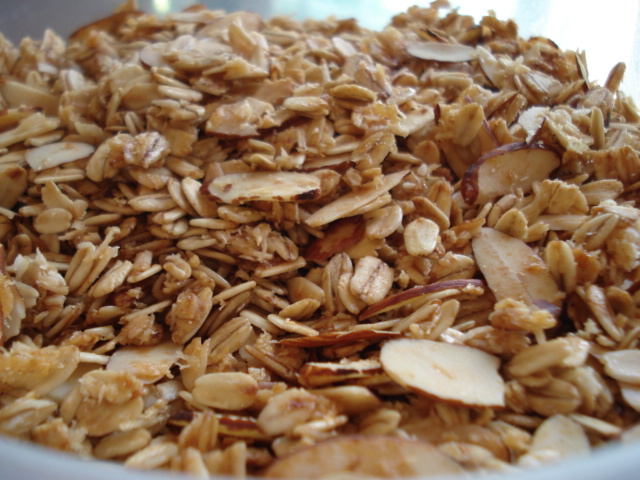Almonds and oatmeal
