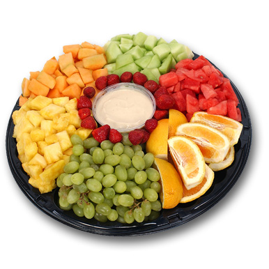 Fruits in a shallow serving dish