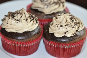 Mocha Cupcake With Dessert Chocolate Mousse Ganache
