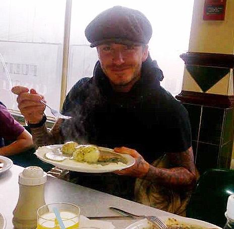 David Beckham- Pie n Mash