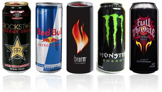 Variety of energy drink