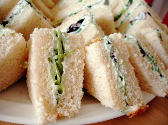 Savory tea-time sandwiches