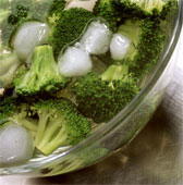 Blanch and freeze vegetables