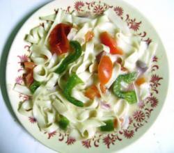 vegetable fettuccine pasta