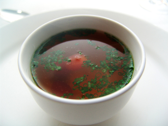 consomme is a delicious clear soup which is very popular in Mexico