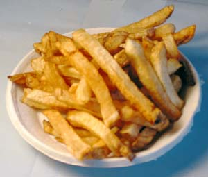 French fries can be easily reheated in microwave