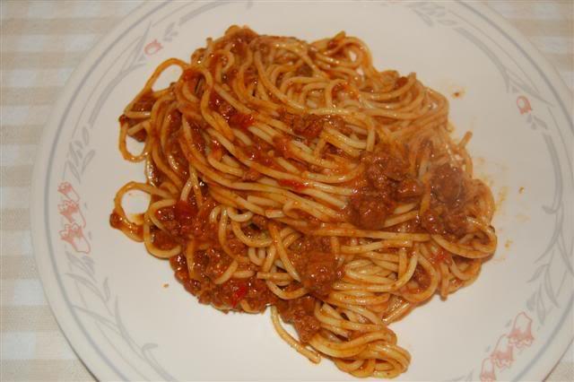 Leftover Chili Spaghetti