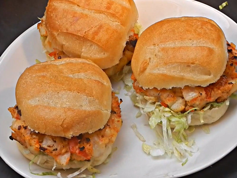 Shrimp And Scallop Burger Recipe Video by Rootboyslim | iFood.tv