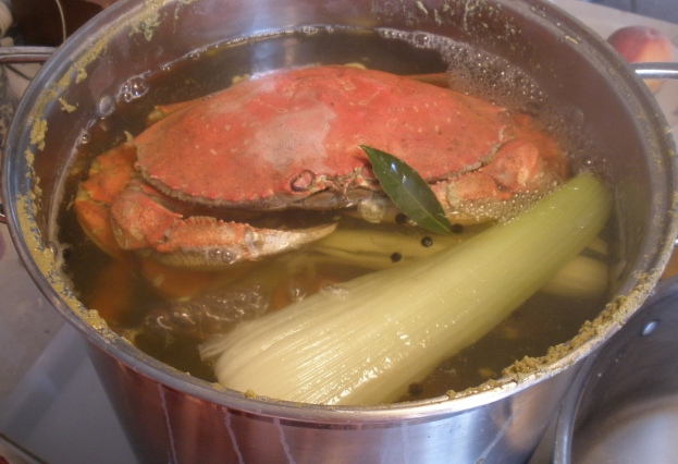 Cooking whole crab