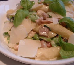 Penne with Pancetta and Beans