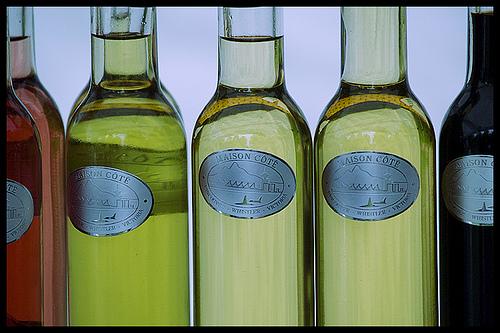 Stored bottles of Vinegar