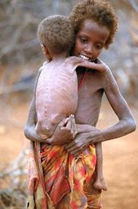 Famine-struck somalia