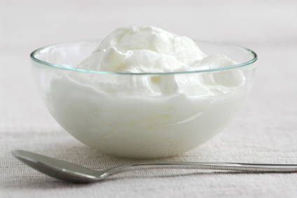 Fresh yogurt for healthy skin