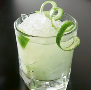 Lime Spiral Garnish