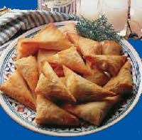 Tiropites: Cheese pie triangles