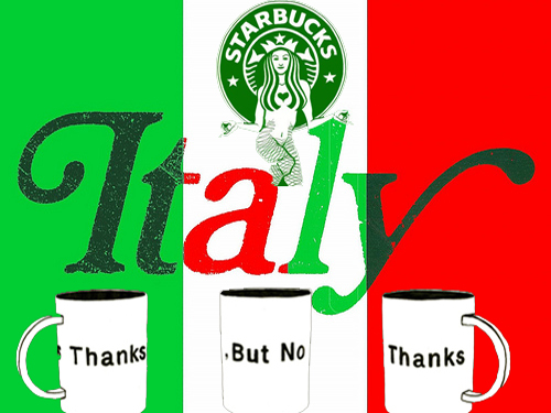 Why is starbucks scared of italy by for Starbucks italie