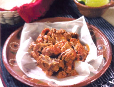 Mixiote is a traditional barbecued meat dish - very popular in Mexico