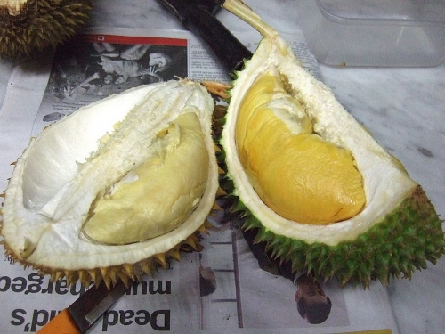 Durian - the hull and the pulp