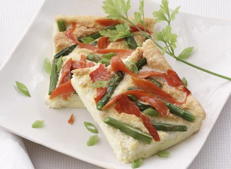 Smoked salmon frittata - perfect lunch