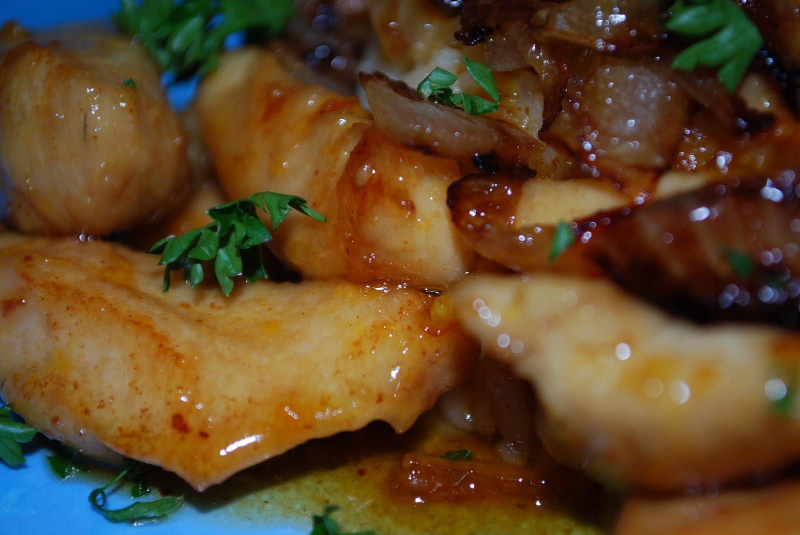 Delicious chicken marmalade