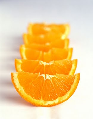 Eating oranges