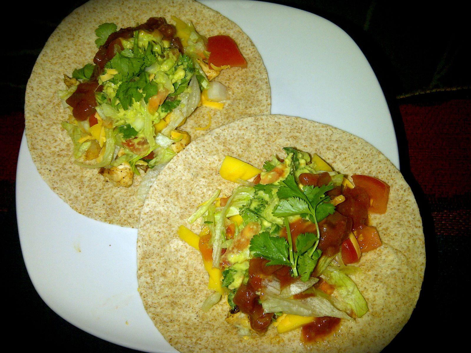 Mango tacos