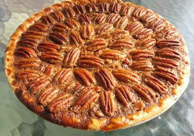 Delicious pecan pie prepared for the day