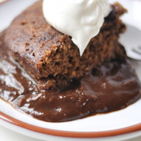 Mouthwatering chocolate pudding cake