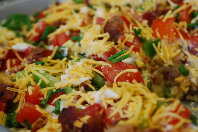 Mexican cornbread salad dip
