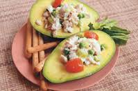 Avocado stuffed with shrimp