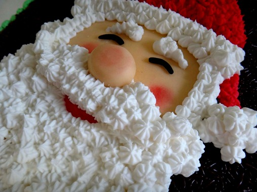 Santa face cake