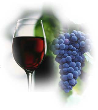 Italian red wine made from Muscat grapes