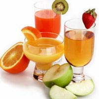 Decorating fruit juices before drinking them